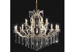 crystal arm chandelier