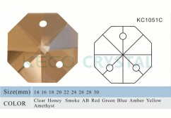 glass beads of octagonal shape for crystal chandelier-(KC1051C)