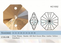 32 facets crystal octagon beads-(KC1052)