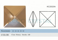 chandelier parts of glass square beads-(KC2020A)