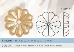 rosettes crystal bead for chandelier-(KC011A)