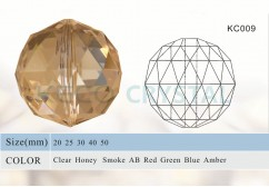 facets crystal ball with center hole-(KC009)