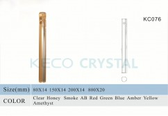 hand made glass octagon rod-(KC076)
