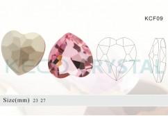 heart glass stones-(KCF09)