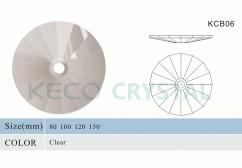 round K9 crystal bobeche-(KCB06)