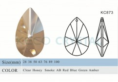 pear shape crystal chandelier parts-(KC873)