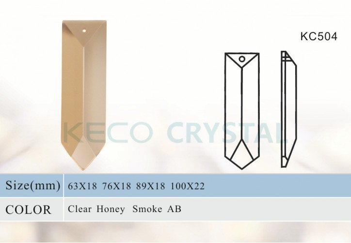 sharp glass prism of crystal chandelier parts